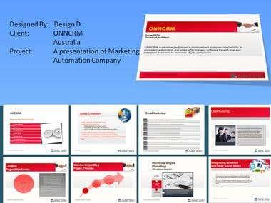 Internet marketing presentation.