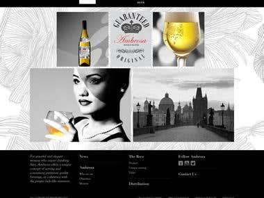 Ambrossa beer--website design and development