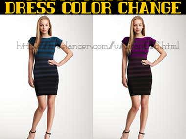 Dress color change