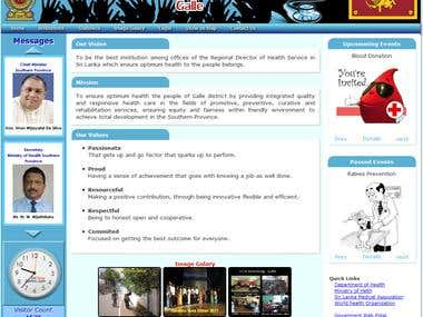 Web Site Design for Health Sector