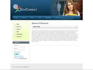 Education Consultant Site
