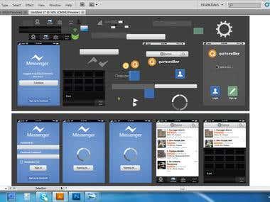 Application User interface design,Icon design