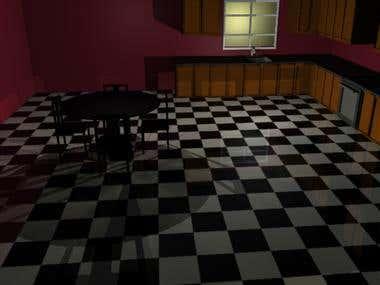3-D Kitchen