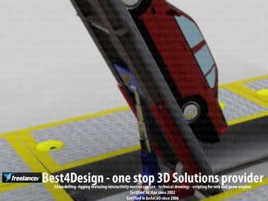 Eukor Car Lift simulation