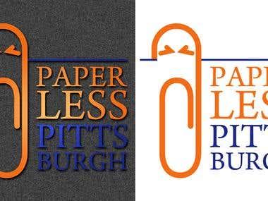 Paperless Pitsburgh Logo design