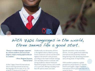 Advertisement for independent school admissions campaign