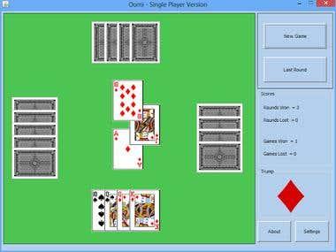 Card Game - Single player version