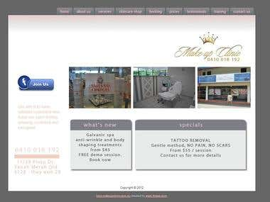 Joomla Site for Beauty Saloon