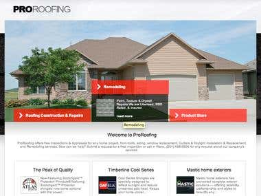 Concrete5 CMS website for roofing company