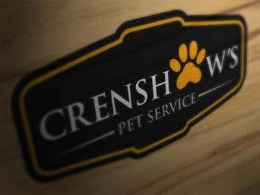 Crenshaws Pet Service - Company Logo Concept