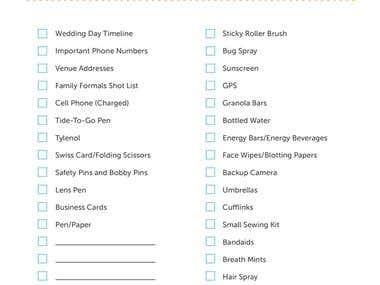Wedding Check List