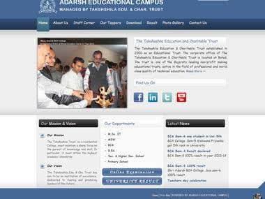 College Campus website - http://adarshcampus.org