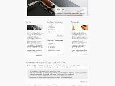 Law Firm WordPress Template / Official Page