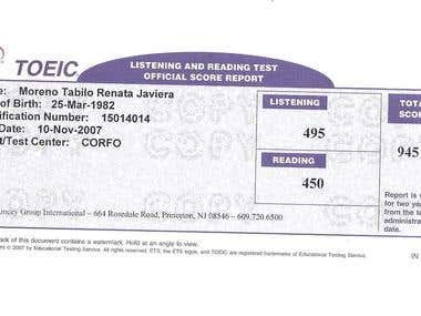 TOEIC Certification