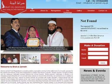 Sirat-ul-jannah NGO Web Site And CMS