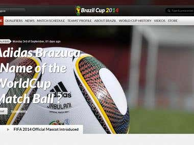 Creating a Website for FIFA WorldCup 2014