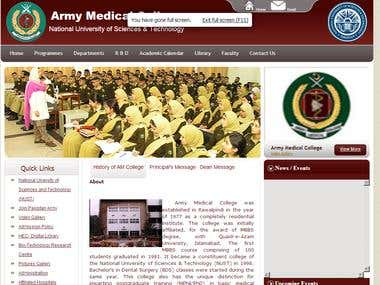 Army Medical College Web Application