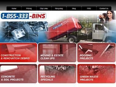 WordPress CMS driven website creation from .PSD - Bin Rental