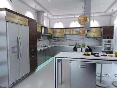 Kitchen Design + Render