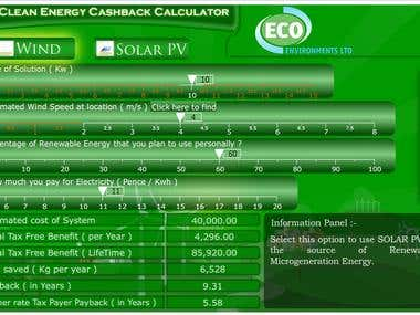 UK Clean Energy cashback Calculator