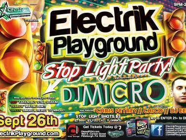 Electrik Playground Club Flyer - DJ Micro