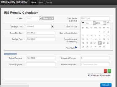 IRS Penalty Calculator