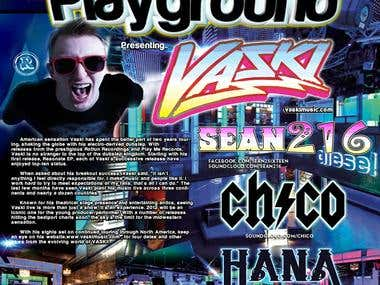 Electrik Playground Club Flyer Feat. VASKI