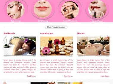 Beauty Spa Website