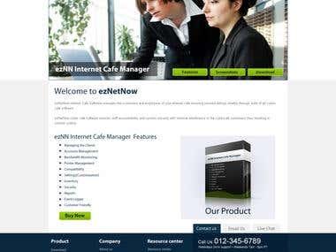 ezNet Wordpress CMS + Ecommerce