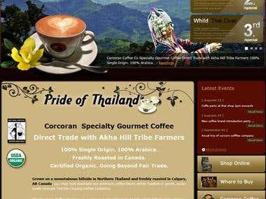 Cofee Web Site - Thailand