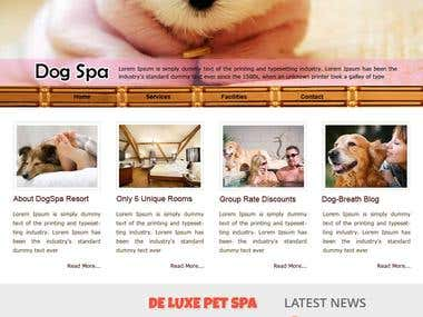 Dog Spa Website
