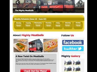 PSD Design for Mighty Meatball Food Truck