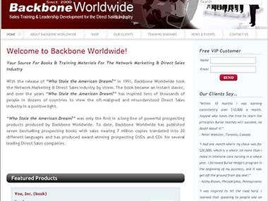 Backbone Worldwide Blog (Wordpress)