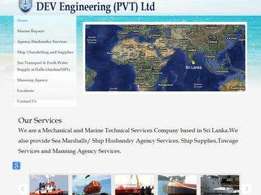 Web site for shipping service company