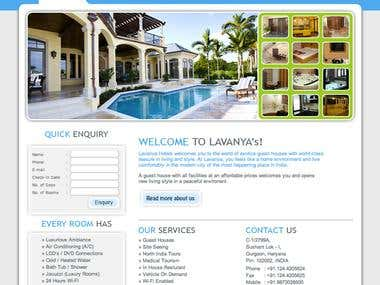 Website & Photoshoot For LavanyaHotels.com