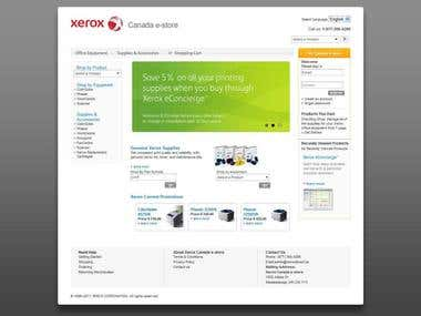 XeroxDirect.ca E-commerce