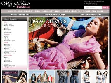 Sam E-commerce Fashion Websites Portoflio