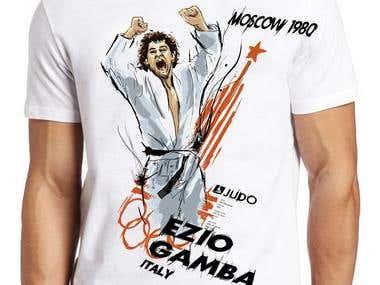 T-Shirt for Ezio Gamba, Moscow 1980 Judo Olympic Winner