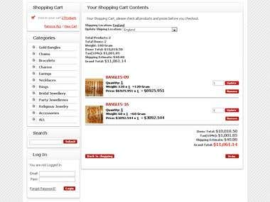 Kashish Jewellers - Online custom coded shopping cart