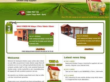 Chicken Coops web site - Australia