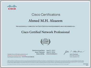 CCNP Certificate