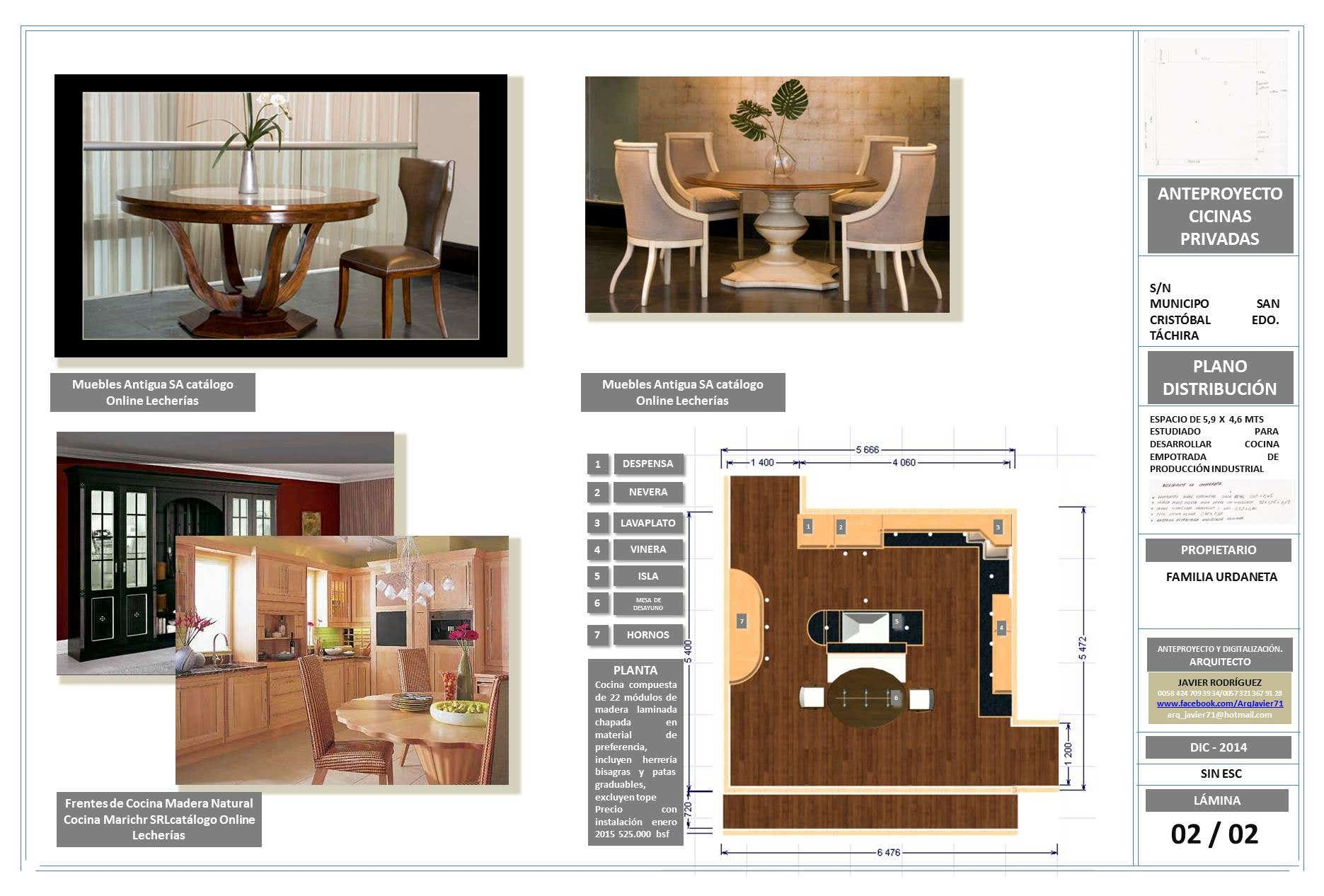 Schemes for kitchen and family dining