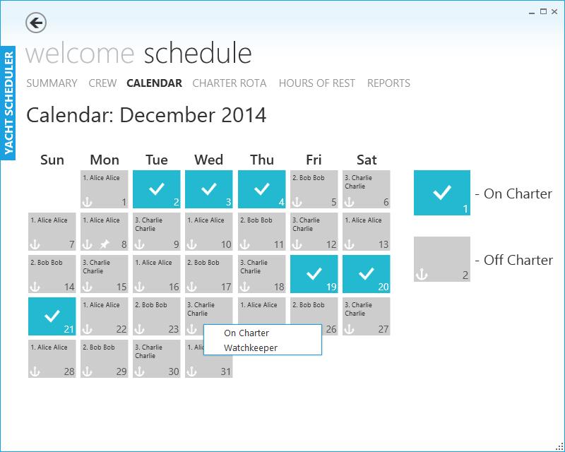 Scheduling program