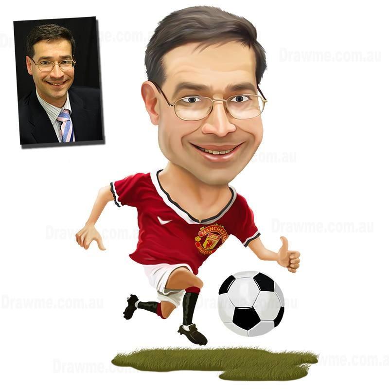Soccer Caricature