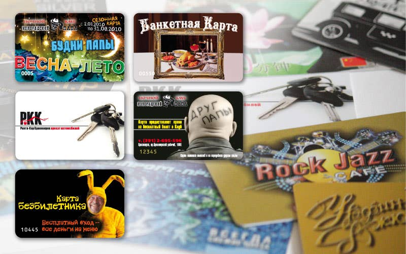 Name cards, discount and club cards