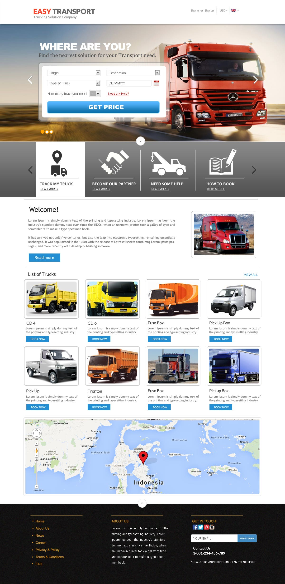 Truck Company Website