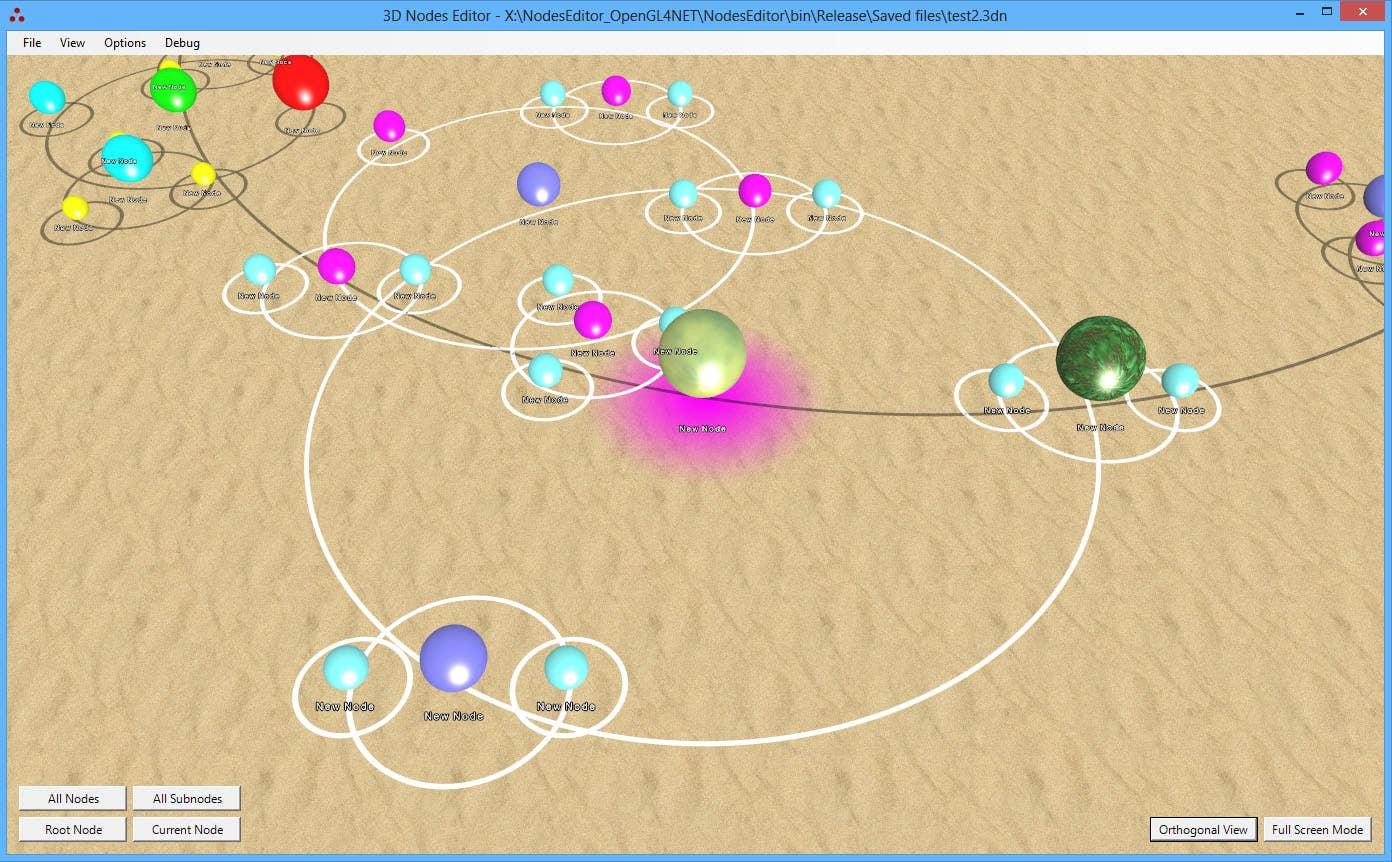 3D Nodes Editor