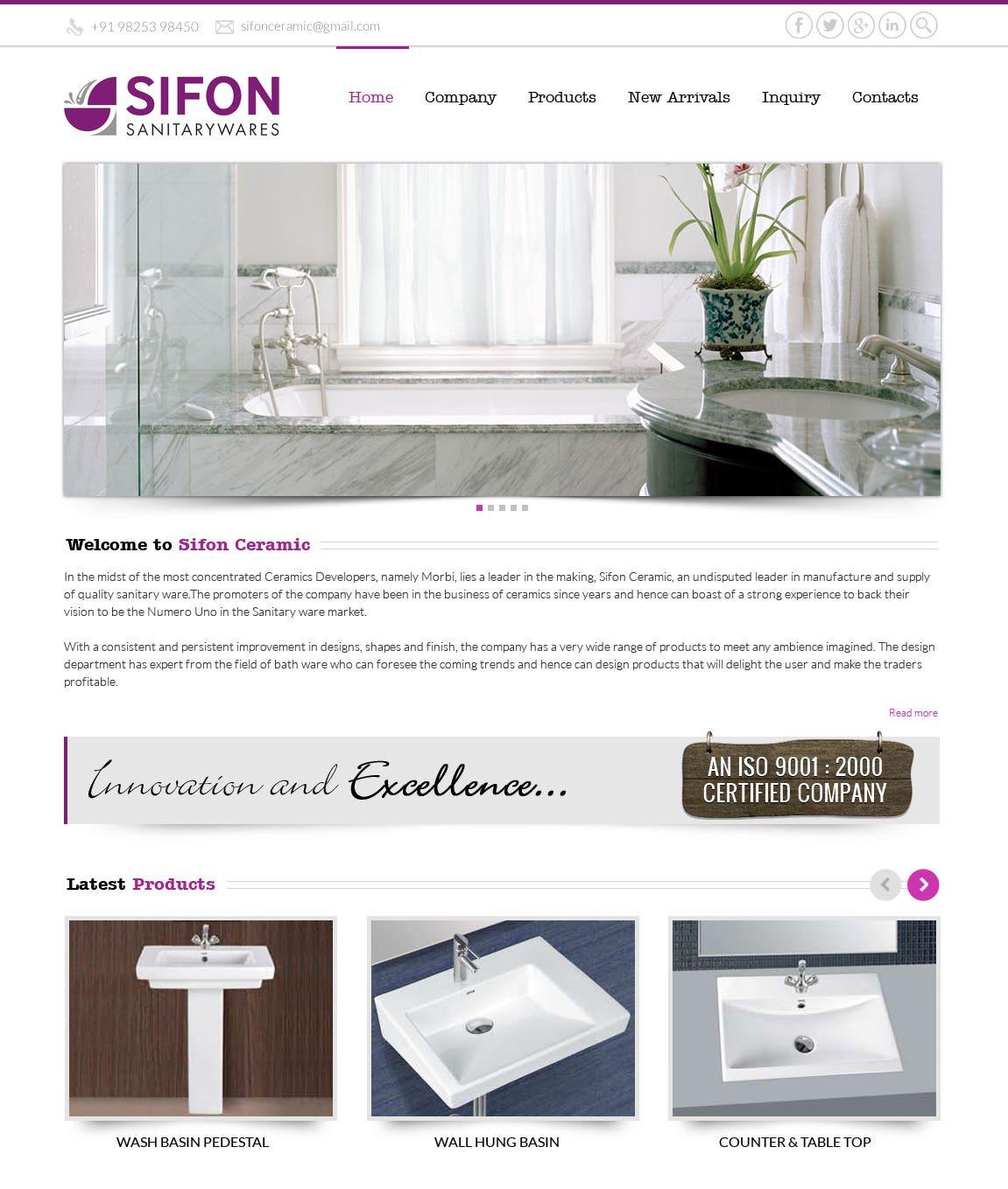 Bootstrap - Sifon Ceramic
