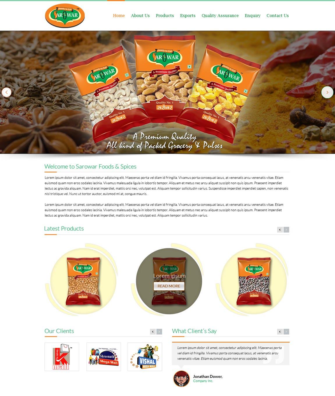 Responsive Web - Sarowar Foods