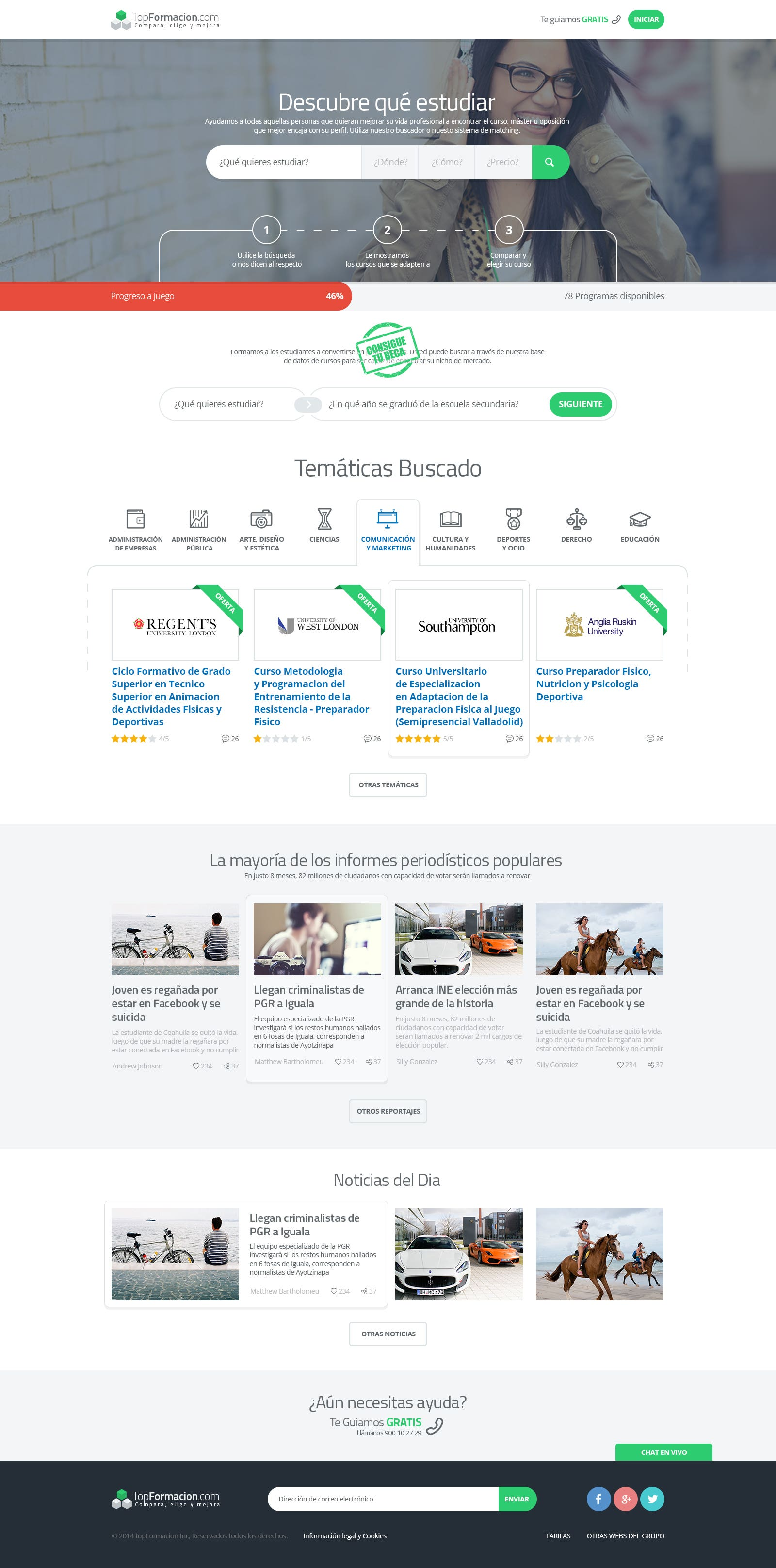 TopFormacion - Spanish website for courses